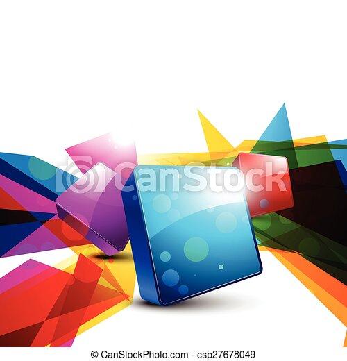 抽象的な形, カラフルである - csp27678049