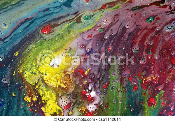 抽象的な絵, ぬれた - csp1142614