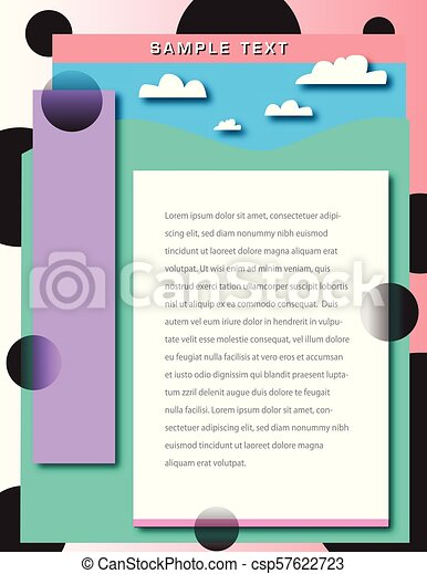 抽象的な風景, 背景, pastelle - csp57622723