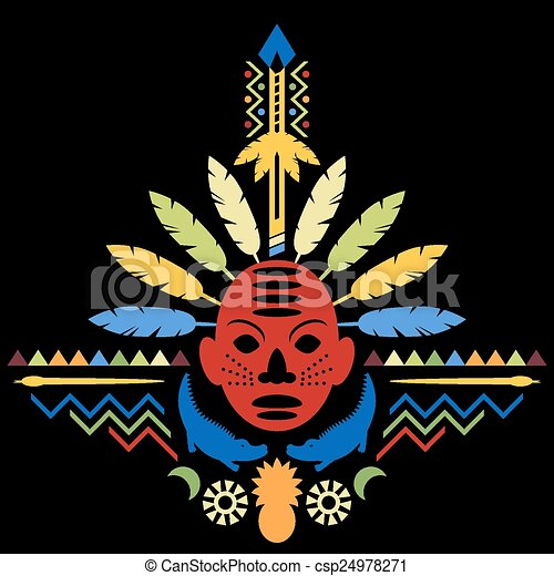 抽象的な 概念, 芸術, 種族, アフリカ - csp24978271