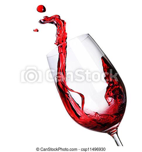抽象的, はねかけること, 赤ワイン - csp11496930