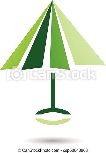 抽象的, アイコン, 傘, シンボル, 形づくられた - csp50643963