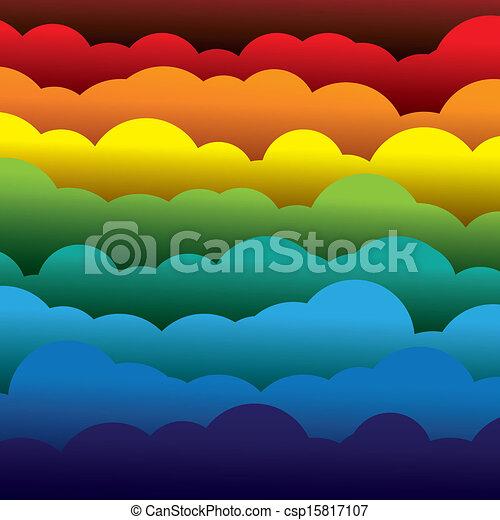 抽象的, オレンジ, 色, ペーパー, (backdrop), 層, ∥含んでいる∥, -, 黄色, graphic., 3d, 青, カラフルである, 形作られる, イラスト, 背景, 使うこと, 赤, 雲, のように, これ, ベクトル, 緑 - csp15817107