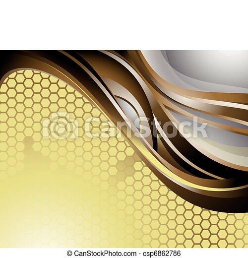 抽象的, カーブ, 背景 - csp6862786
