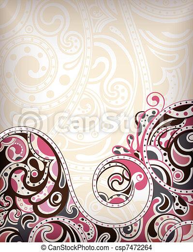 抽象的, カーブ, 背景 - csp7472264