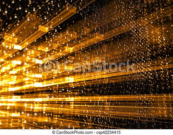 抽象的, デジタルによって 発生させる イメージ - csp42234415