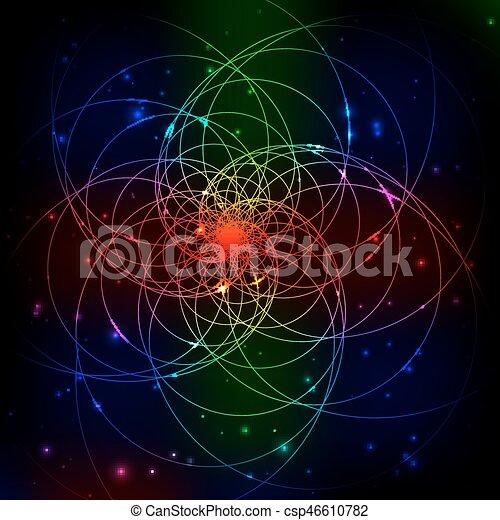 抽象的, デジタル, フラクタル, ライト, バックグラウンド。 - csp46610782