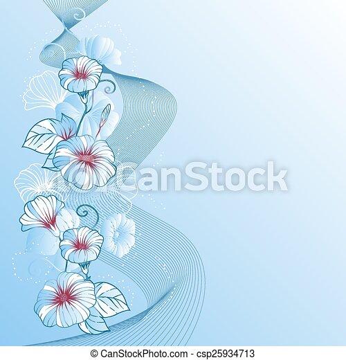 抽象的, バックグラウンド。, ベクトル, デザイン, 花, 流行, 花 - csp25934713