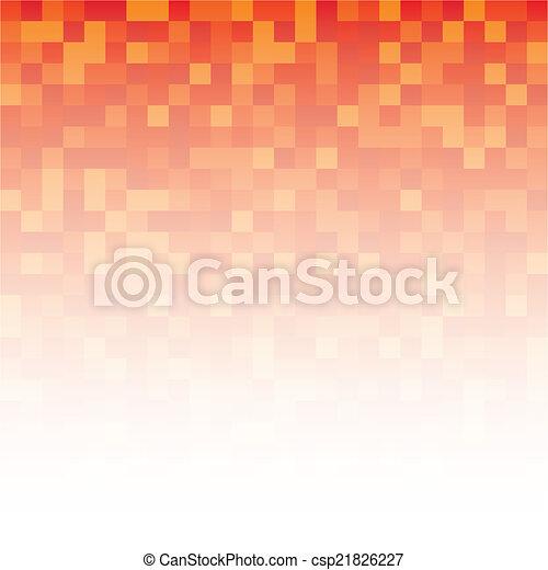 抽象的, ピクセル, 背景 - csp21826227