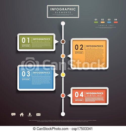 抽象的, フローチャート, infographics - csp17503341