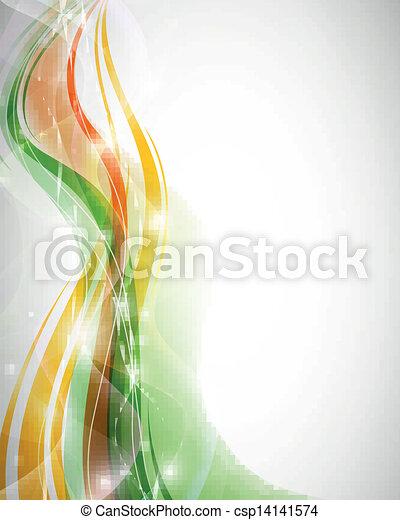 抽象的, ベクトル, デザイン, 波 - csp14141574