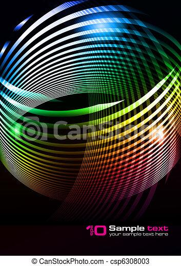 抽象的, ベクトル, デザイン - csp6308003