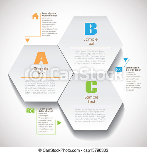 抽象的, ペーパー, 六角形, ベクトル, 3d - csp15798303