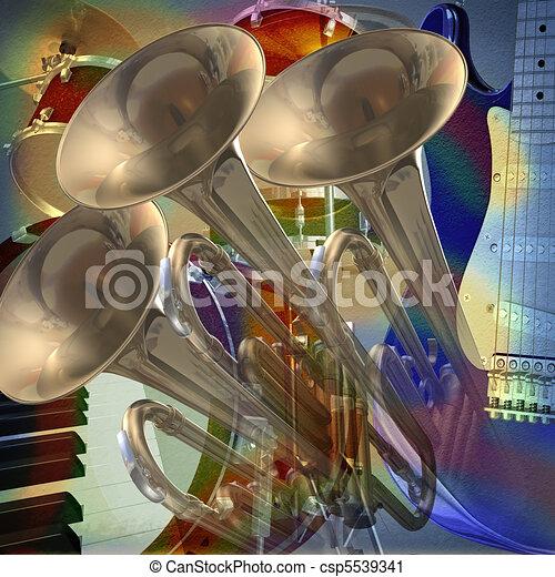抽象的, ミュージカル, 背景 - csp5539341