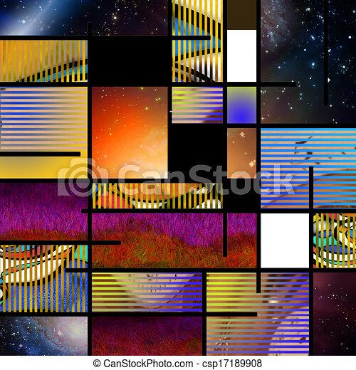 抽象的, モダンアート - csp17189908