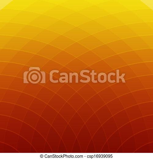 抽象的, ライン, 黄色の背景, オレンジ, ラウンド - csp16939095