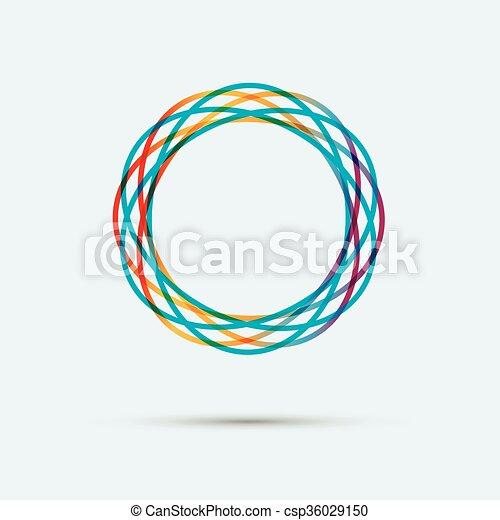 抽象的, 円, 線, 有色人種 - csp36029150