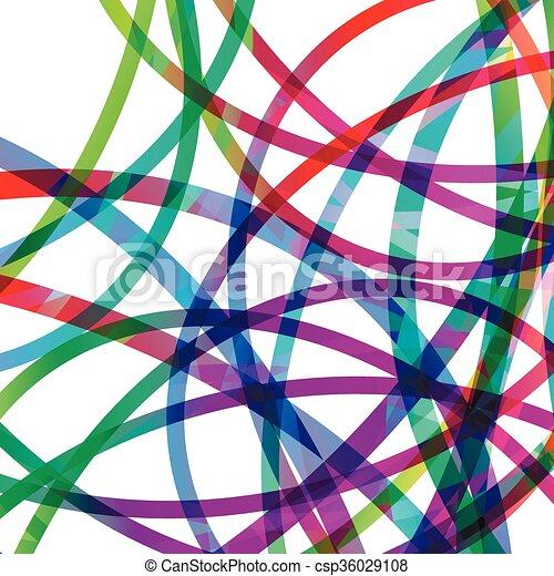 抽象的, 円, 線, 有色人種 - csp36029108