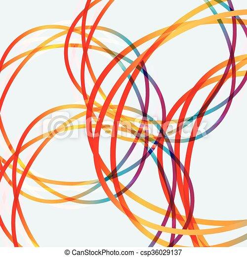 抽象的, 円, 線, 有色人種 - csp36029137