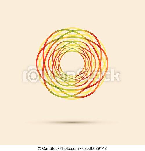 抽象的, 円, 線, 有色人種 - csp36029142