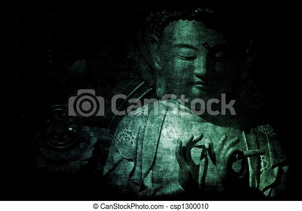 抽象的, 壁紙, 寺院, 背景, 中国語 - csp1300010