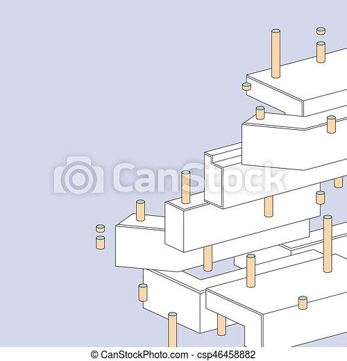 抽象的, 幾何学的, 背景 - csp46458882