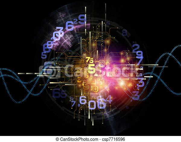 抽象的, 技術, デジタル - csp7716596