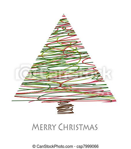 抽象的, 木, クリスマス - csp7999066