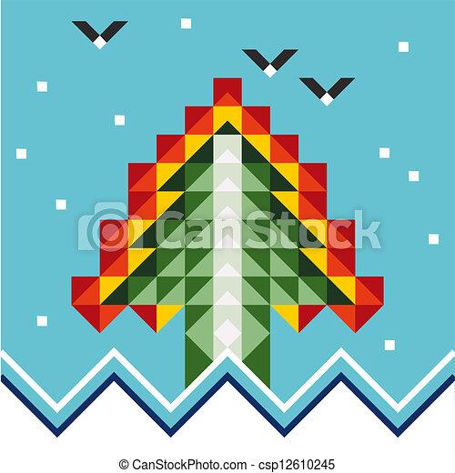 抽象的, 木, クリスマス - csp12610245