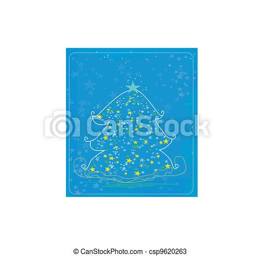 抽象的, 木, クリスマス - csp9620263
