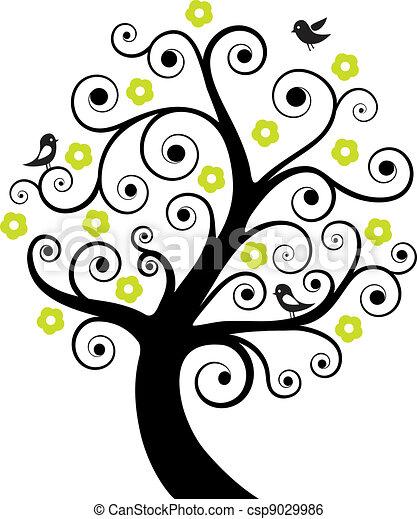 抽象的, 木, 鳥 - csp9029986