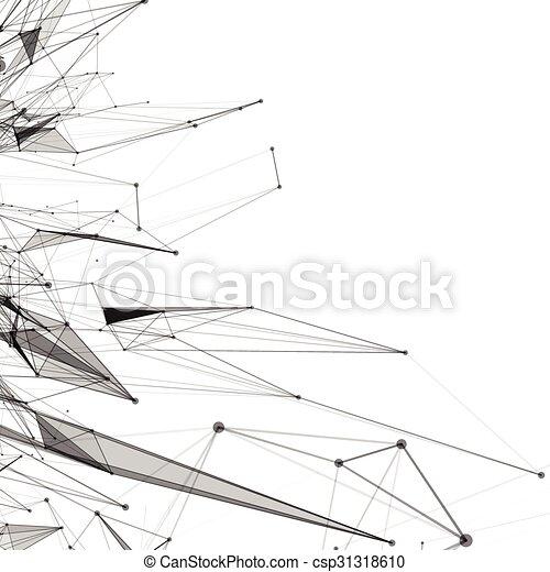 抽象的, 格子バックグラウンド, 点を打たれた - csp31318610
