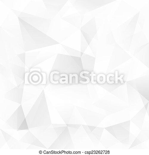 抽象的, 水晶, ベクトル, 背景, 白, 三角形 - csp23262728