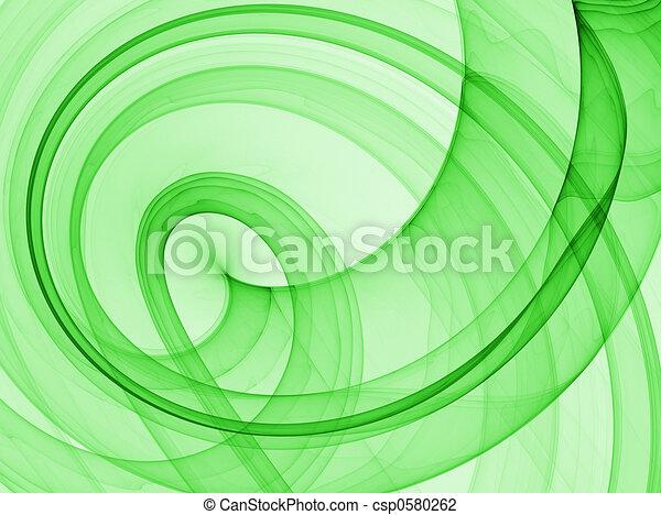 抽象的, 緑の背景 - csp0580262