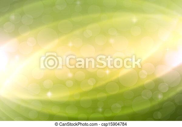 抽象的, 緑の背景 - csp15904784