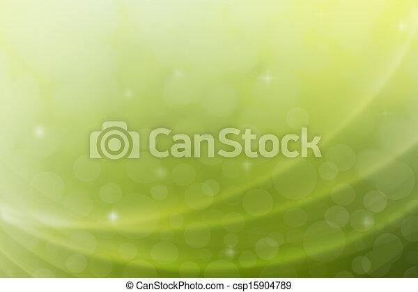 抽象的, 緑の背景 - csp15904789