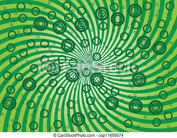 抽象的, 緑の背景 - csp11655074