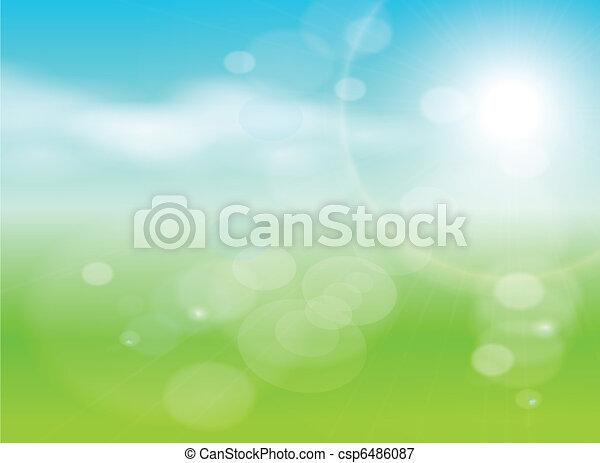 抽象的, 緑の背景 - csp6486087