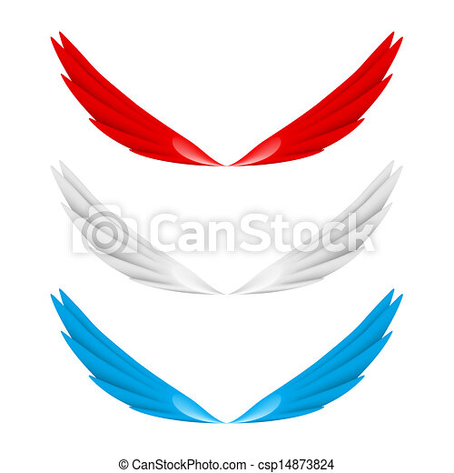 抽象的, 翼, カラフルである - csp14873824