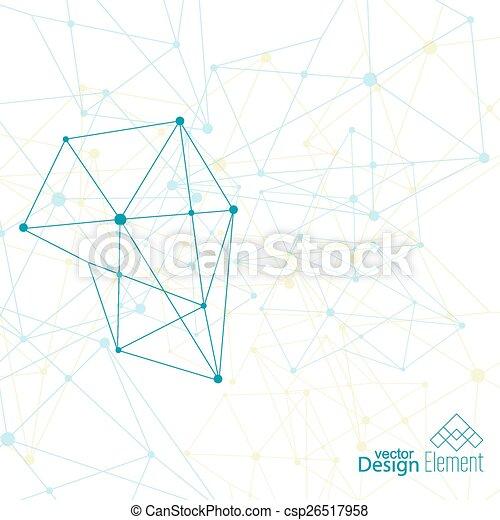 抽象的, 背景, 事実上, 微片 - csp26517958