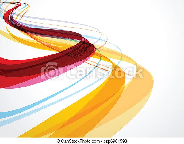 抽象的, 背景, 構成, 波 - csp6961593