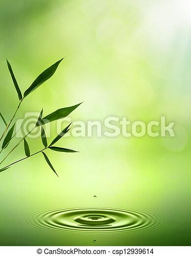 抽象的, 背景, bamboo., 東洋人, デザイン, あなたの - csp12939614