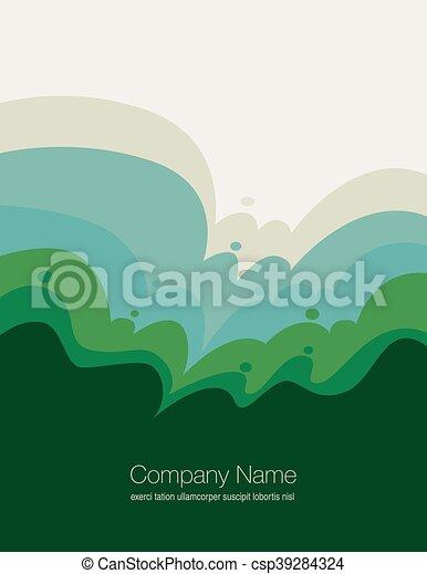 抽象的, 自然, 風景 - csp39284324