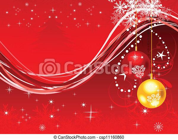 抽象的, 芸術的, クリスマス - csp11160860