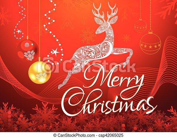 抽象的, 芸術的, background.eps, クリスマス - csp42065025