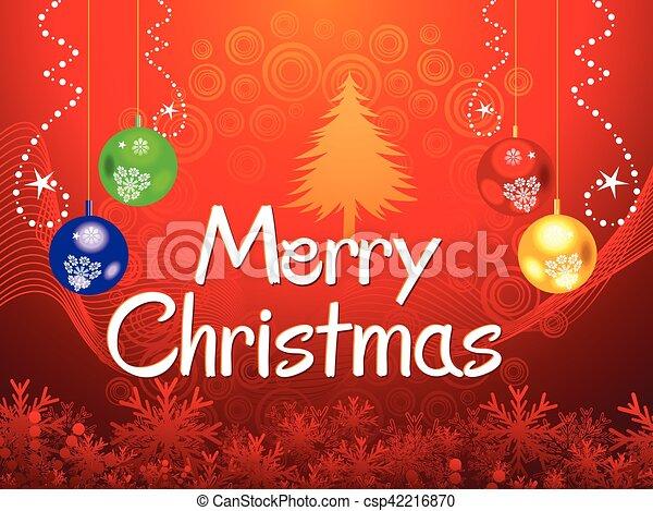 抽象的, 芸術的, background.eps, クリスマス - csp42216870