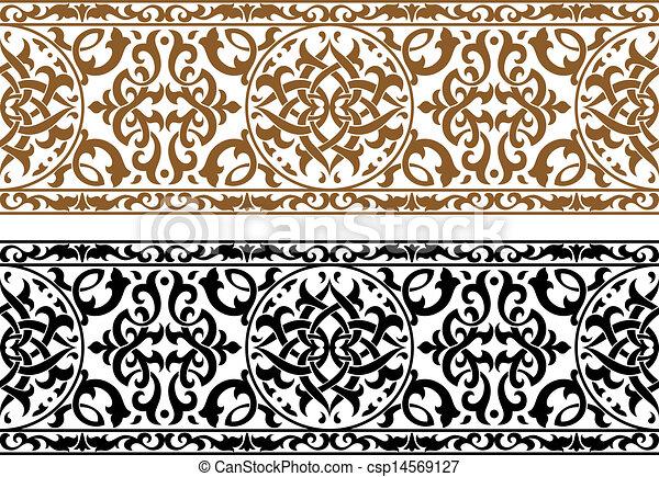 抽象的, 装飾, アラビア - csp14569127