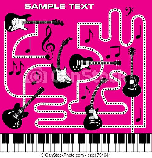 抽象的, 音楽, 背景 - csp1754641