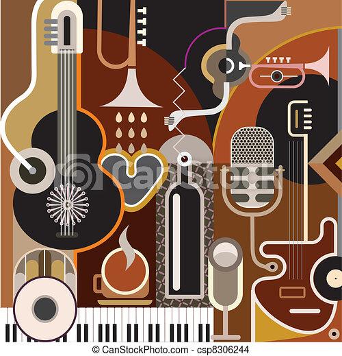 抽象的, 音楽, 背景 - csp8306244