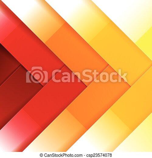 抽象的, 黄色, 形, 背景, オレンジ, 光沢がある, 長方形, 赤 - csp23574078